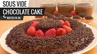 Sous Vide CHOCOLATE CAKE   AKA Brigadeirão in Brazil with Joule ChefSteps Dessert
