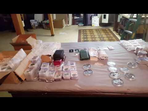 Unboxing over 6000 Ounces of Silver and Gold Coins from ISN