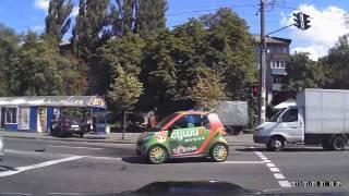 ДТП на ул. Щербакова Smart и Daewoo