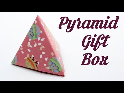 How to make Pyramid Gift Box, Easy Basic Simple Origami for Beginners Kids Paper Crafts DIY Ideas