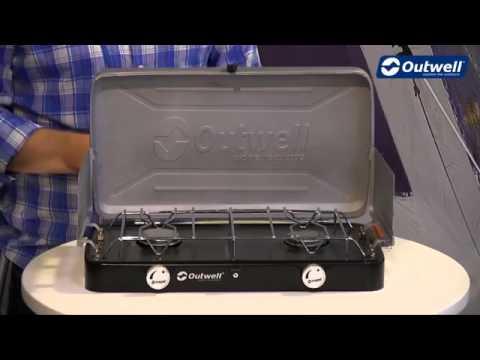 Cocina camping gas de 2 fogones con paraviento youtube for Cocina camping gas carrefour