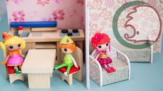Как сделать кукольный домик-ширму. How to make small doll's house