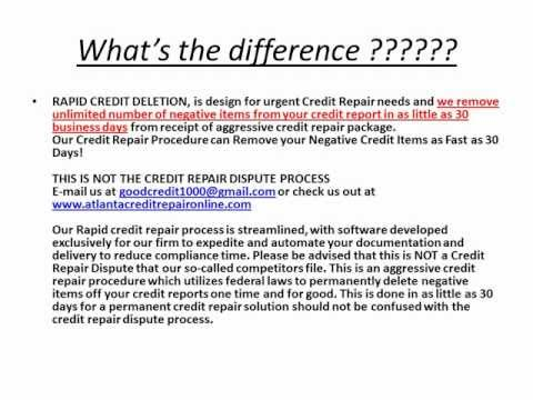 Credit deletion credit repair credit wipe credit sweep erase bad credit