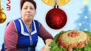 Салат с мидиями и помело. Оригинальный салат