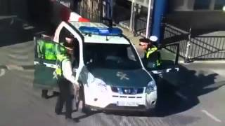 Incident at Gibraltar border with stolen Guardia Civil vehicle. 15 2 16