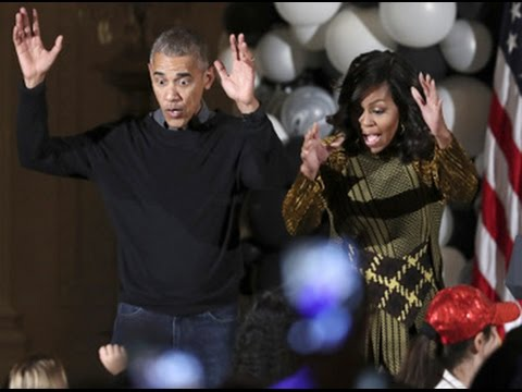 Obama, Michelle dance to 'Thriller' at White House Halloween party ...