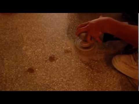 how to fix holes in marble floor
