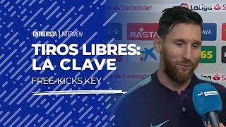 Messi y la clave para los tiros libres