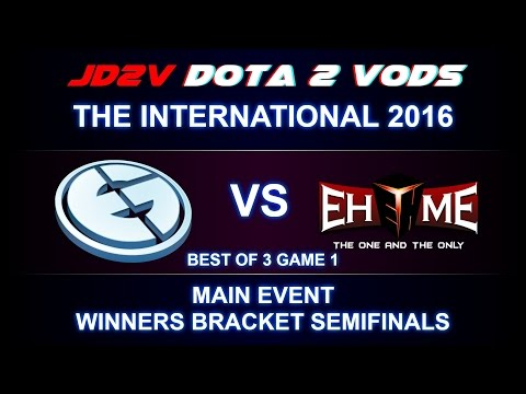 [MUST SEE] EG vs EHOME TI6 The International 2016 Main event WB Semifinals Game 1 VOD DOTA 2