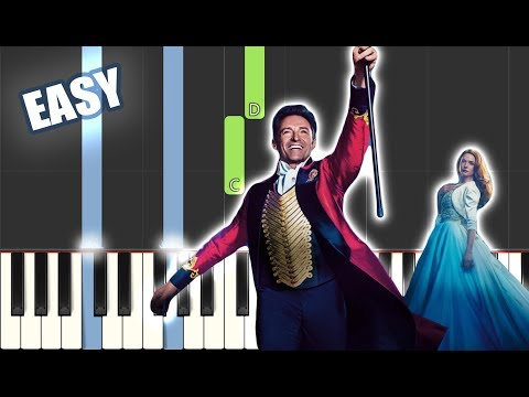 A Million Dreams - The Greatest Showman Cast | EASY PIANO TUTORIAL by Betacustic