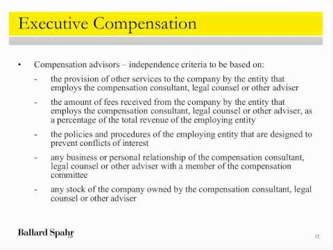 Webinar: The Dodd-Frank Act on Executive Compensation and Corporate Governance