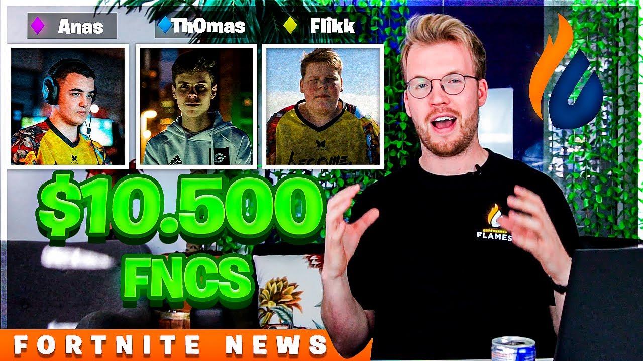 """""""DANSK TRIO VINDER $10.500!?"""" - FNCS & Cash Cup resultater   Fortnite News med Flames #14"""