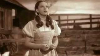 Somewhere Over the Rainbow-- Judy Garland with lyrics