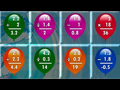 Math Balloons Decimal Game Overview / Tutorial