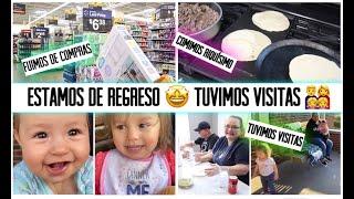 DE REGRESO CON LOS VLOGS🤩COMPRANDO NUESTRO MANDADO🛍MIS SUEGROS NOS VISITARON 👨👩👧👧VLOGS EN ESPAÑOL