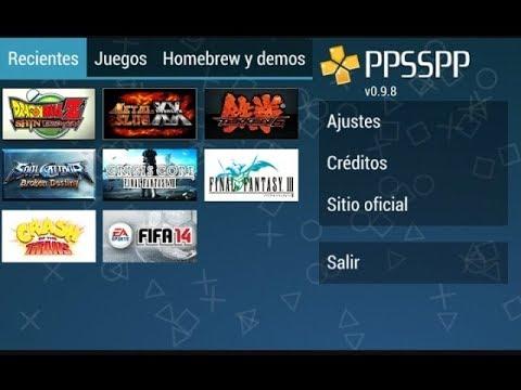 Como Descargar Juegos Para Emulador Ppsspp 2018 Youtube