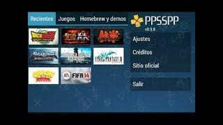 Cómo descargar juegos para emulador PPSSPP 2018