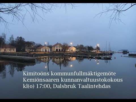 Kimitoöns fullmäktigemöte - Kemiönsaaren valtuustokokous 28102019