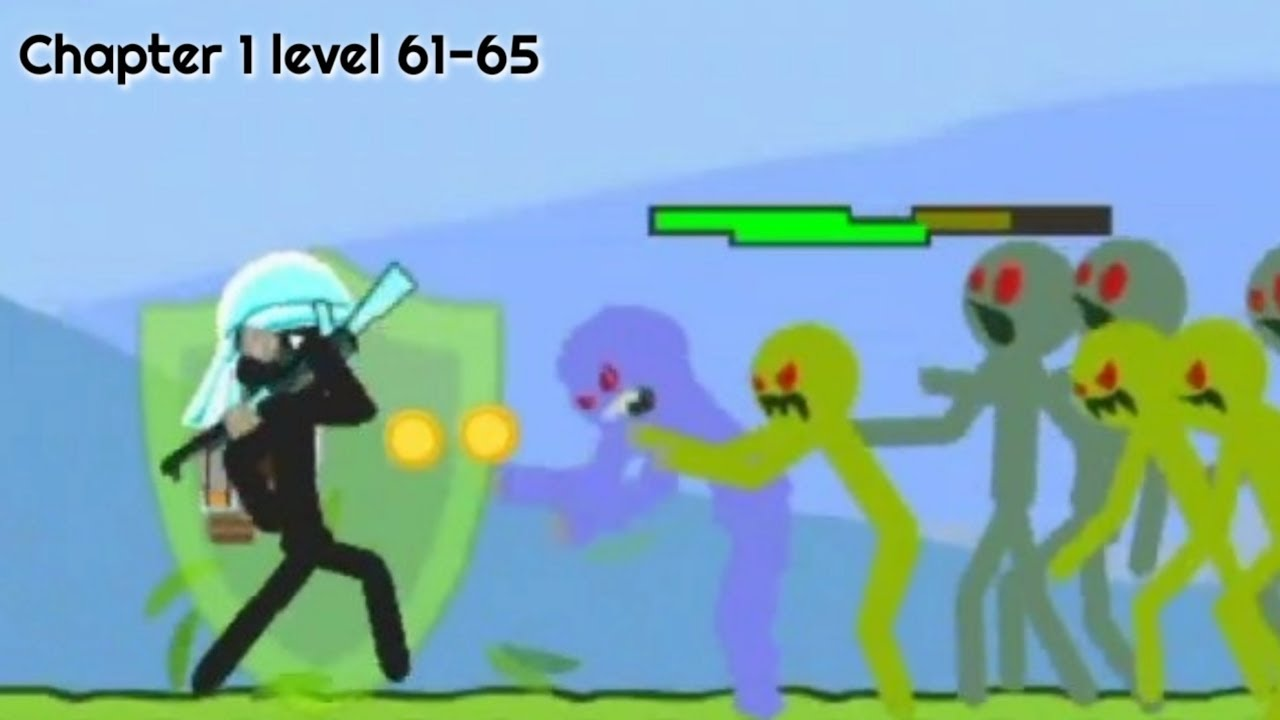 Stickman Zombie Shooter chapter 1 Calm Park level 61-65
