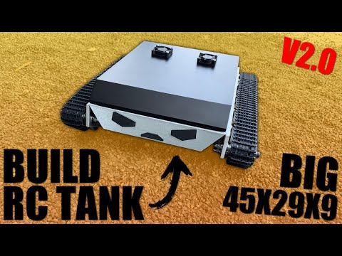 how to build a DIY powerful metal rc robot tank V2.0