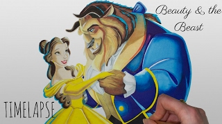 Speed Drawing Beauty & the Beast