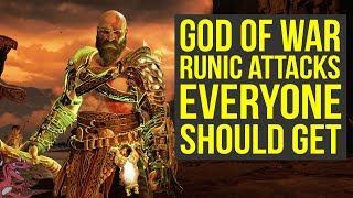 God of War Best Gear (Spoilers) - Amazing Runic Attacks EVERYONE SHOULD GET (God of War 4 Best Gear)