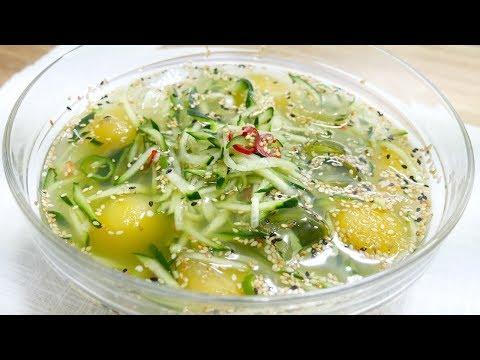 시원한 수박 오이냉국( Chilled Watermelon Cucumber Soup )