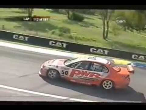 Jim Richards hits a Kangaroo at the Bathurst 1000