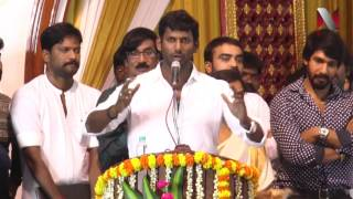 Actor Vishal emotional Speech in Producer council election success meet