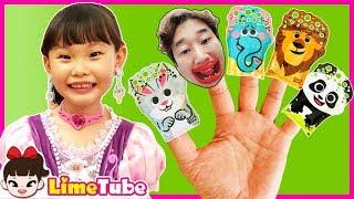 라임의 비눗방울 핑거패밀리 핑크퐁 마법봉 장난감 놀이| Finger Family Song
