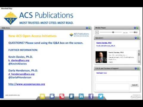 Webinar: Introducing New ACS Open Access Initiatives