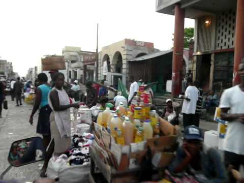 Motorcycle ride through the streets of Port au Prince
