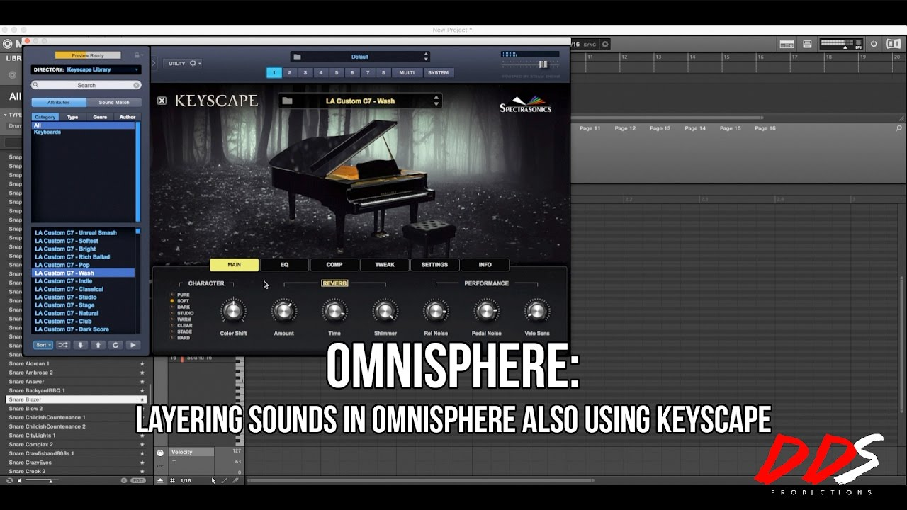 Omnisphere: Layering Sounds In Omnisphere Also Using Keyscape