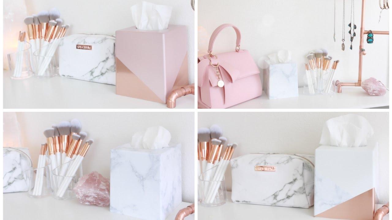 DIY Room Decor | Decorative Tissue Boxes - YouTube