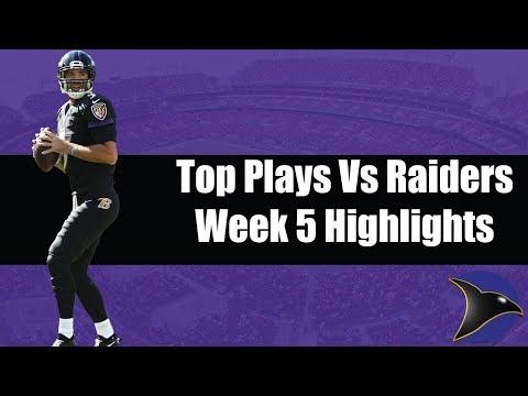 Ravens Top Plays Against Raiders   Baltimore Ravens Highlights