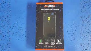 Reviews & much more (Scuderia Ferrari portable battery charger)