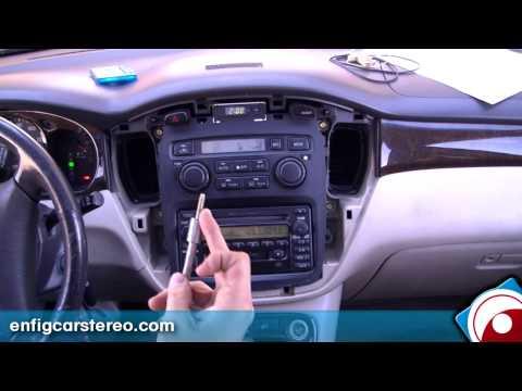 Radio Removal Toyota Highlander 2002 - YouTube
