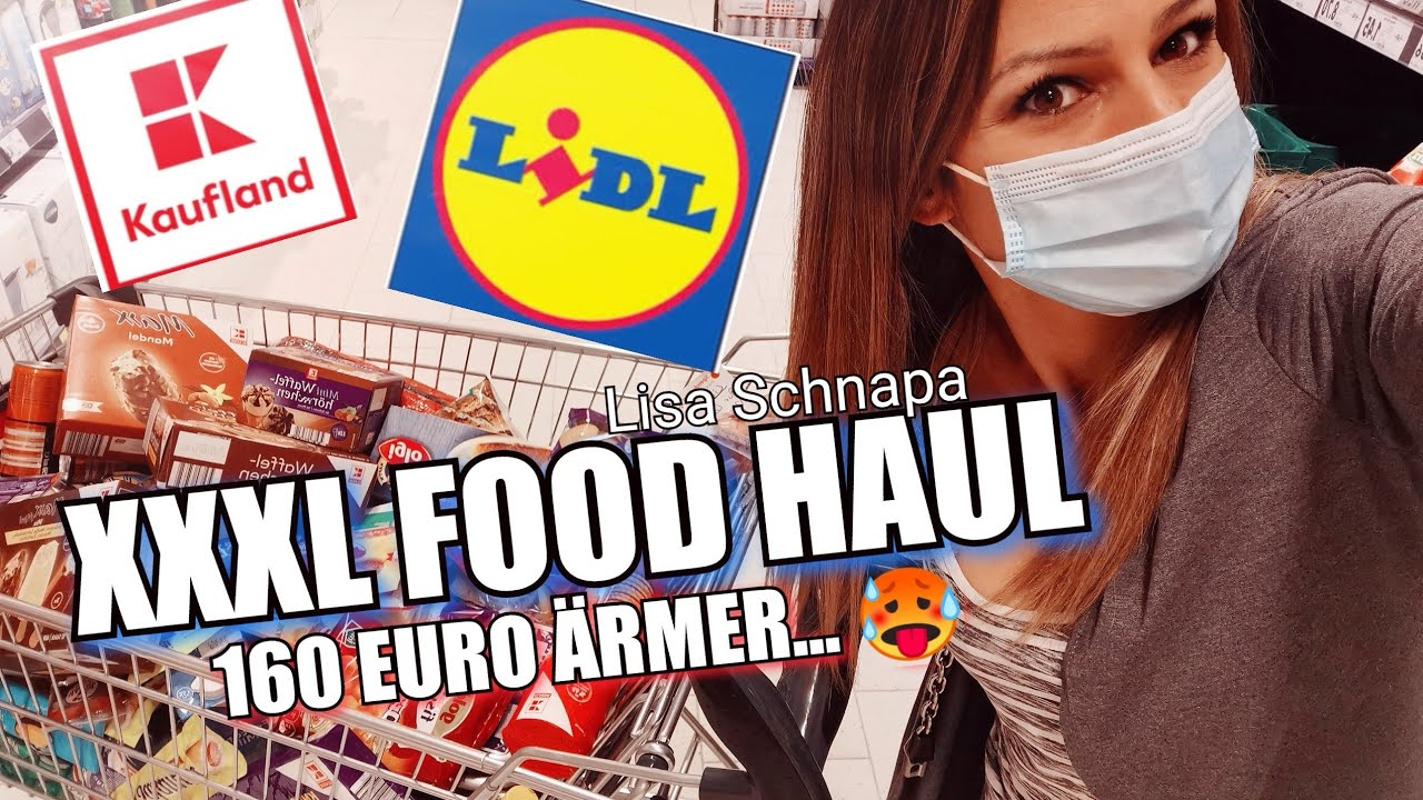 XXXL FOOD HAUL LIDL KAUFLAND 160 EURO | WOCHENEINKAUF | ANGEBOTE | DEUTSCH | 4 PERSONEN |