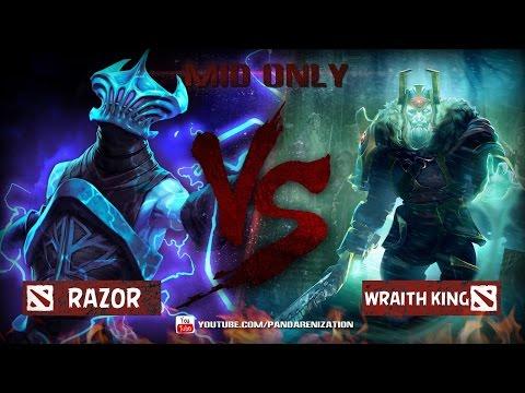 видео: razor vs wraithking [Битва героев мидонли dota2]