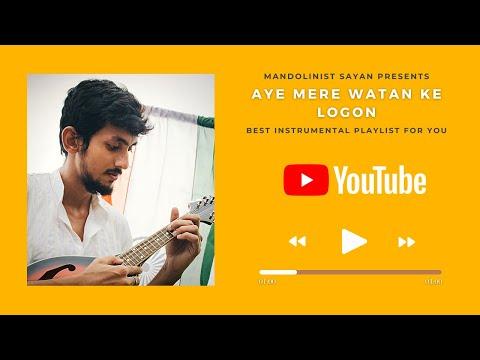 Aye Mere Watan Ke Logo  Instrumental Cover YouTube  Music Video