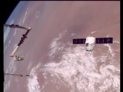 NASA FULL Broadcast of the SPACEX Dragon captured by I.S.S. -  August 2017.