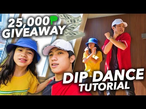 DIP DANCE TUTORIAL (25,000 Cash Giveaway) | Ranz And Niana