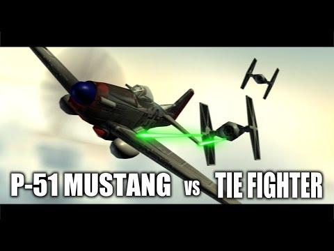 P-51 MUSTANG  VS  TIE FIGHTER