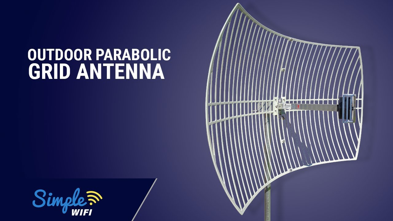 84d5cbba1ca762 24dBi Outdoor Parabolic Grid Antenna - Long Range Booster by SimpleWiFi