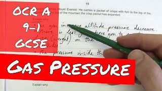 Gas Pressure - OCR Gateway Physics Higher P1-4 Exam Paper