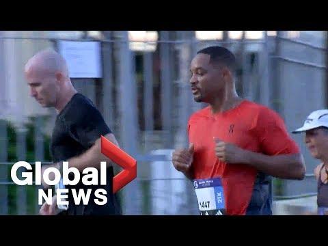 Will Smith runs a half marathon in Havana, checking off bucket list item