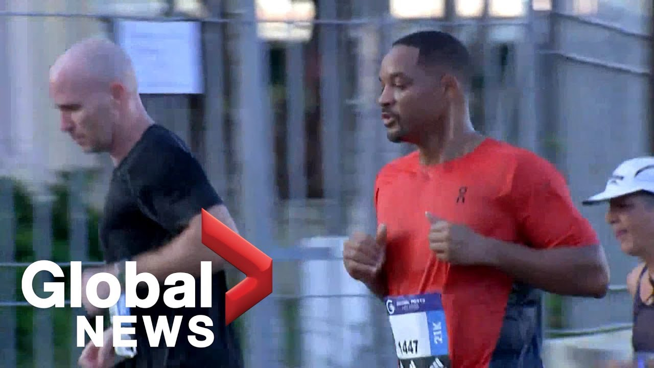Will Smith runs a half marathon in Havana, checking off bucket list item