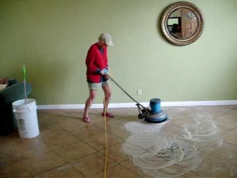 floor buffing instructions - YouTube