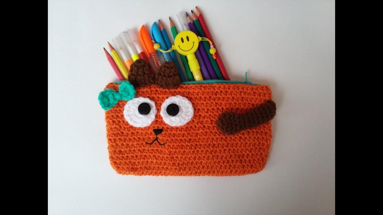 Örgü Kalemlik Yapımı / DIY Crochet Pencil Case