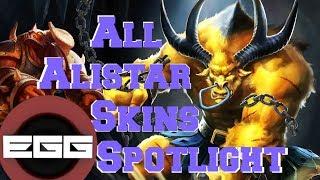 All Alistar Skins Spotlight - League of Legends Skin Review [HD]